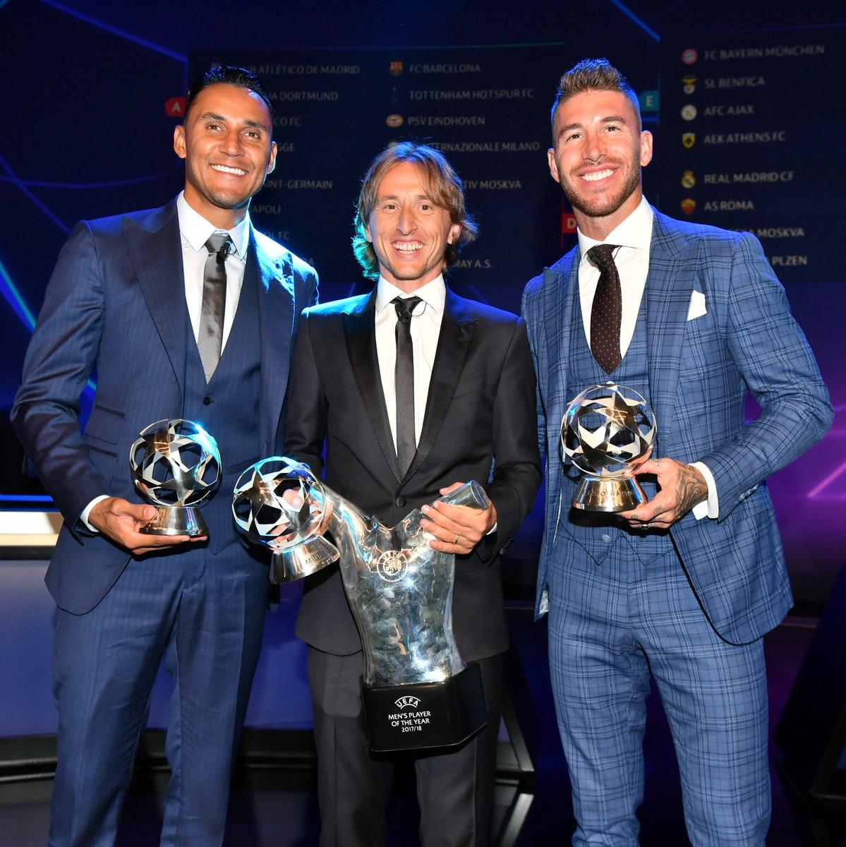 Luka Modric Bags UEFA 'Player of the Year' Award