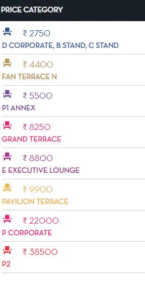 Chinnaswamy Stadium Bangalore IPL 2020 Tickets Price in Bangalore, Online, Offline Outlets